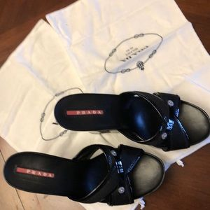 Authentic Prada Sport wedge sandals Size 36.5/6.5